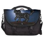 Black chibi Wolf Laptop Messenger Bag