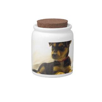 Black Chihuahua Candy Jar