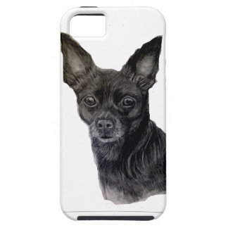Black Chihuahua original artwork by Carol Zeock iPhone SE/5/5s Case