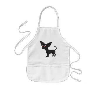 Black Chihuahua with Short Hair Kids' Apron