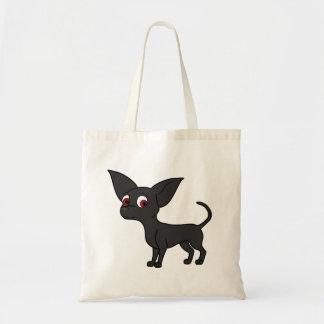 Black Chihuahua with Short Hair Tote Bag