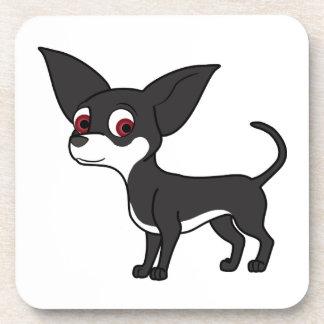 Black Chihuahua with White Markings Coaster