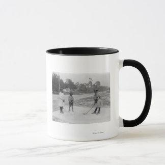 Black Children Playing Golf Photograph Mug