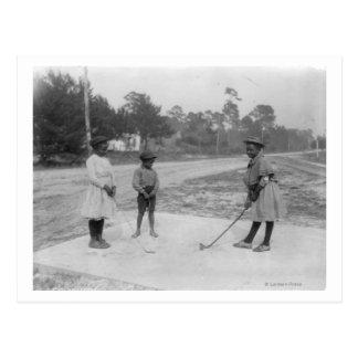 Black Children Playing Golf Photograph Postcard