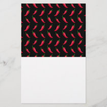 Black chili peppers pattern