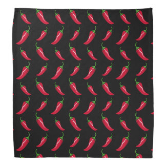 Black chili peppers pattern bandana