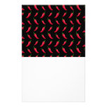 Black chili peppers pattern customized stationery