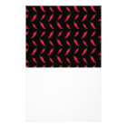 Black chili peppers pattern stationery