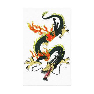 Black Chinese Dragon Canvas Canvas Print