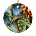 Black-Chinned Hummingbird in Flight Ceramic Ornament