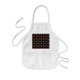 Black chocolate chip cookies pattern kids' apron