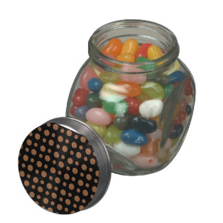 Black chocolate chip cookies pattern jelly belly candy jars