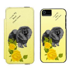 Incipio Watson™ iPhone 5/5s Wallet Case with Chow Chow Phone Cases design