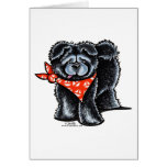 Black Chow Chow Sailor Greeting Card