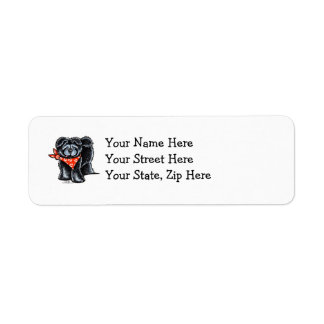 Black Chow Chow Sailor Label