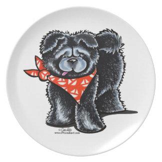 Black Chow Chow Sailor Plate