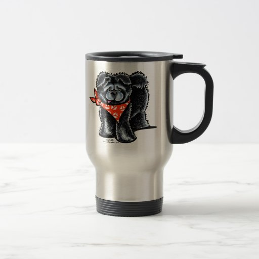 Black Chow Chow Sailor Travel Mug