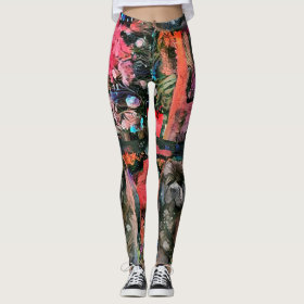BLACK CHOW leggings - See front and back