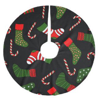 black christmas stockings brushed polyester tree skirt