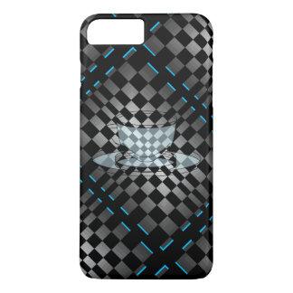 Black Chrome Grey Op Art Modern Java CricketDiane iPhone 7 Plus Case