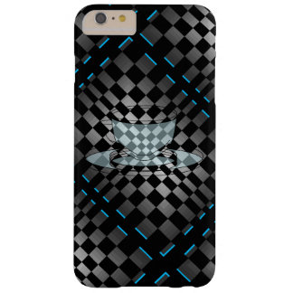 Black Chrome Grey Op Art Retro Modern Coffee Java Barely There iPhone 6 Plus Case