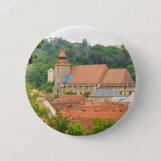 Black church in Brasov, Romania Pinback Button