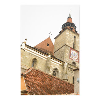 Black church in Brasov, Romania Stationery