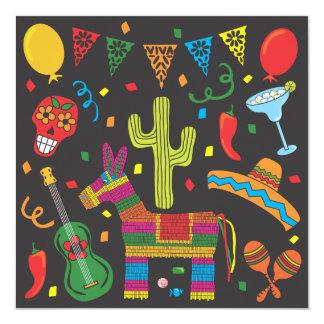 Black Cinco De Mayo Fiesta Party Invitation