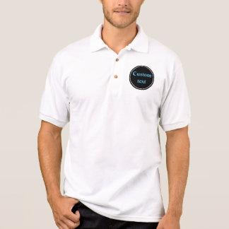 Black circle custom design polo shirt