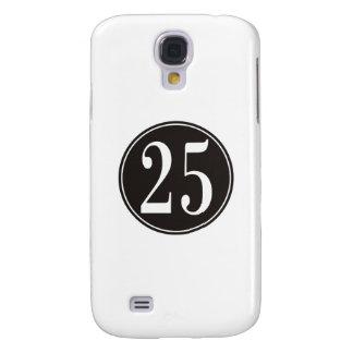 Black Circle - Number 25 (front) Samsung S4 Case