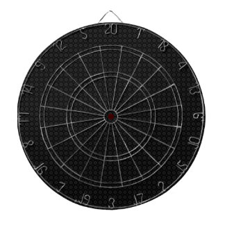Black Circle Print Cool Dartboard Dart Board