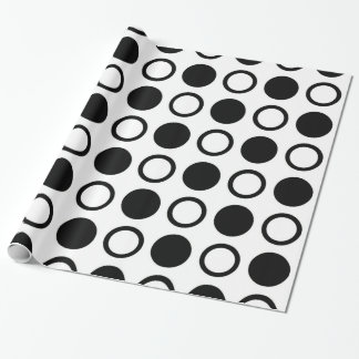 Black Circles and Polka Dots Wrapping Paper