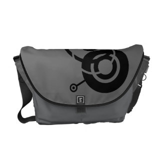 Black Circles Courier Bag