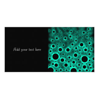 Black Circles over Turquoise Design Card