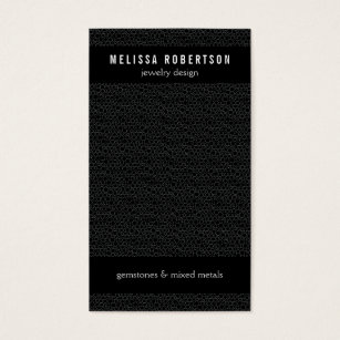 Jewelry making business cards templates zazzle black circles pattern for jewelry design business card colourmoves