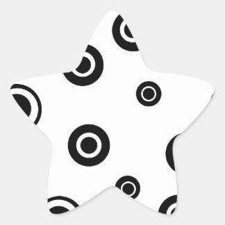 Black Circles Products Star Sticker