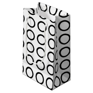 Black Circles Small Gift Bag