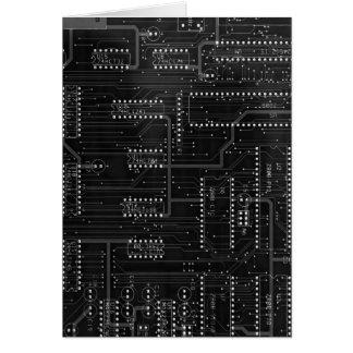 Black Circuit Board Cyber Industrial EBM Techno Card
