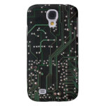 Black Circuit Board Texture iPhone 3G Case Samsung Galaxy S4 Cases