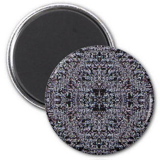 Black Circuits 1 2 Inch Round Magnet