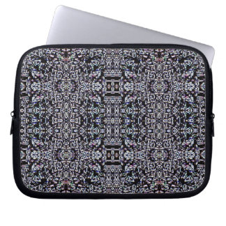 Black Circuits 5 Laptop Sleeve