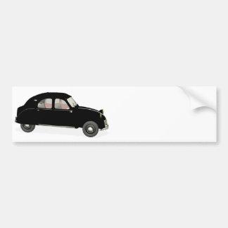 Black Citroen 2CV Car Bumper Sticker