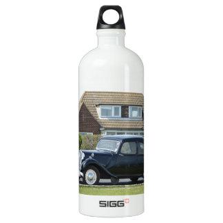 Black Citroen Traction Avant Aluminum Water Bottle