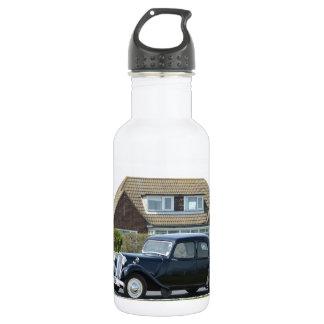 Black Citroen Traction Avant Stainless Steel Water Bottle
