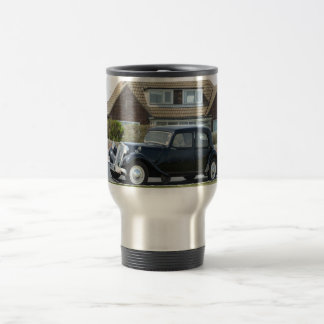 Black Citroen Traction Avant Travel Mug