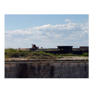 Black civil war canon postcard
