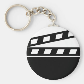 Black Clapperboard Keychain