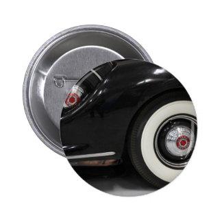 Black Classic card Pinback Button
