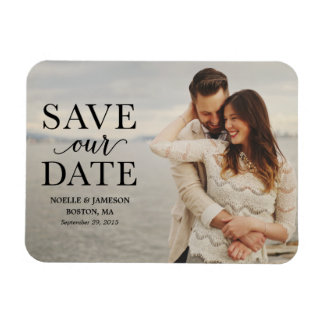 Black Classic Overlay | Save the Date Magnet