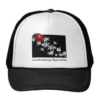 Black clematis ladybug heart design trucker hat